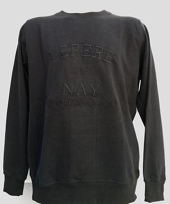 Sweat-shirt Noir brodé