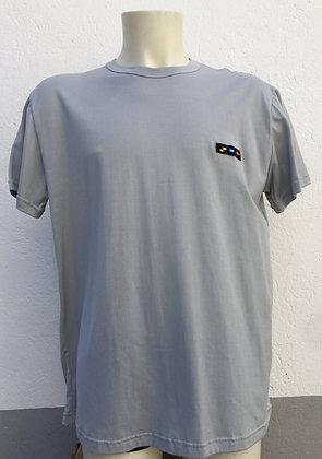 T-shirt gris brodé manches au choix