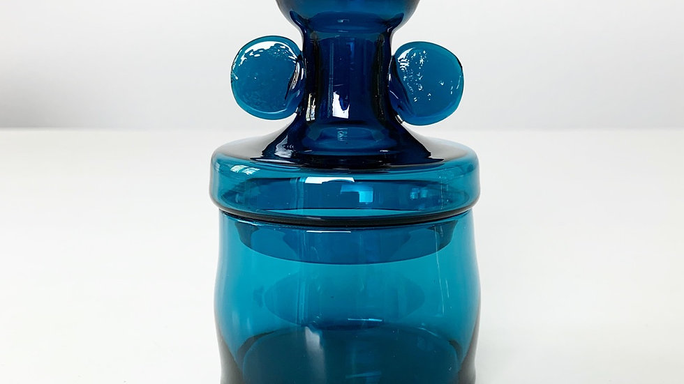 Small Bertil Vallien Glass Jar Åfors Sweden 1960s