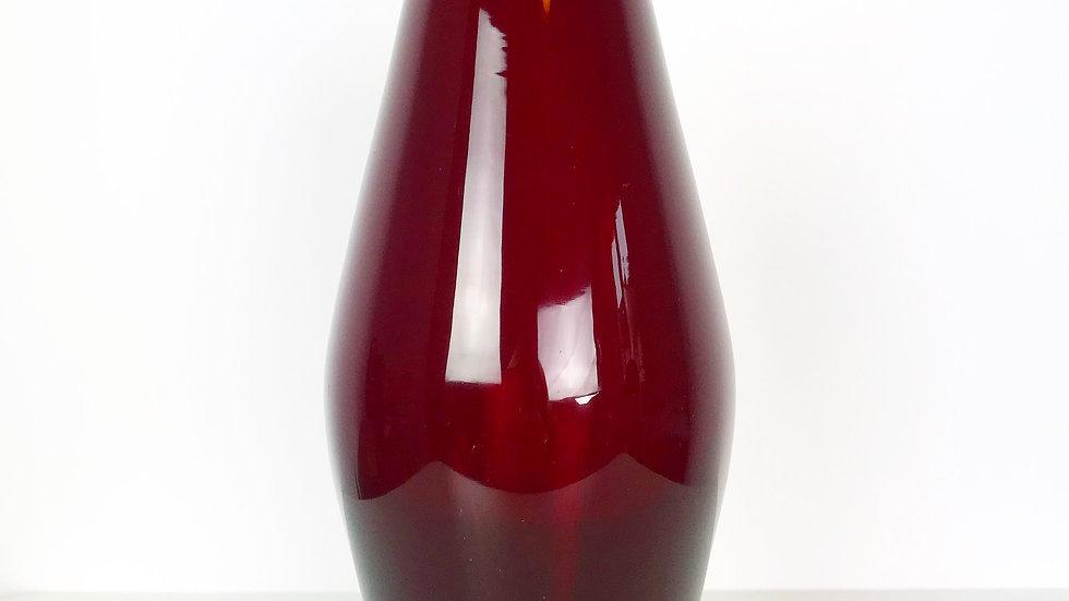 Monica Bratt Ruby Red Glass Vase Reijmyre 50s