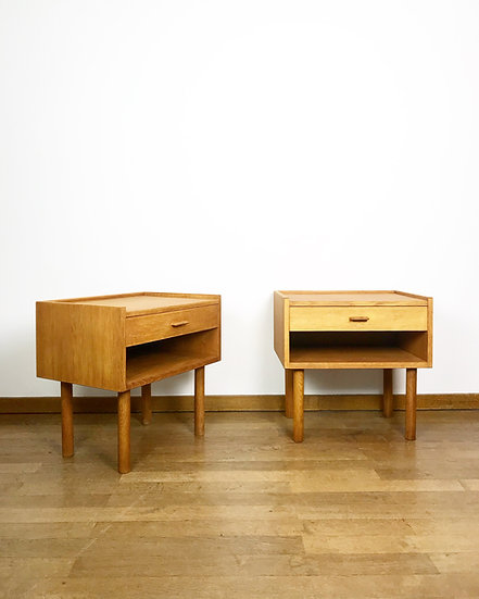 Hans Wegner Bedside Tables Oak RY Møbler 1960s