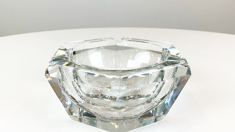 Crystal Glass Ashtray by Val St Lambert 60s