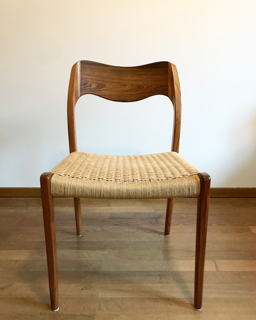 set of four niels møller chairs model 71 rosewood