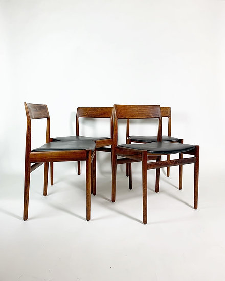 Set of Four Johannes Nørgaard Chairs Rosewood 1960s