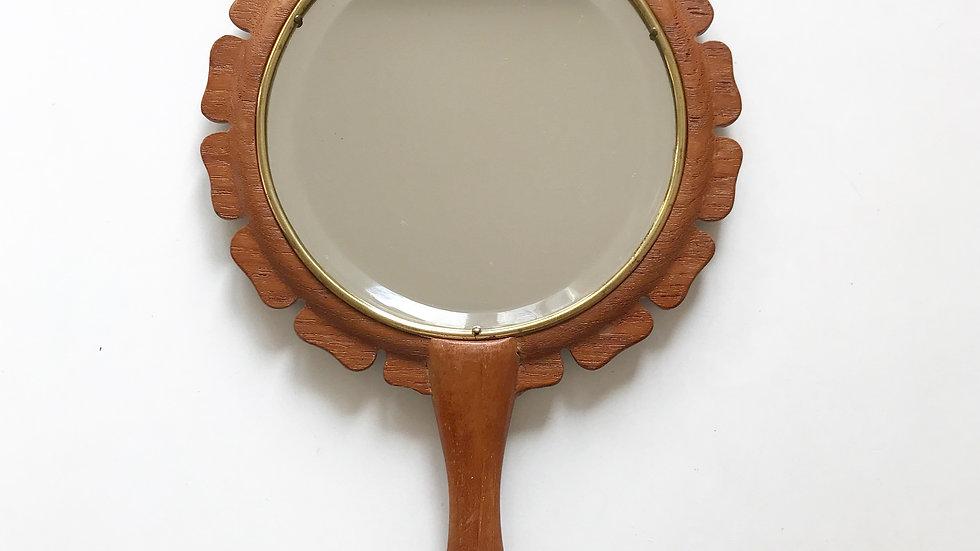 Rare Hans-Agne Jakobsson Hand Mirror Teak 50s