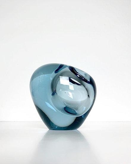 Per Lütken Vase Aqua Holmegaard Denmark 1957