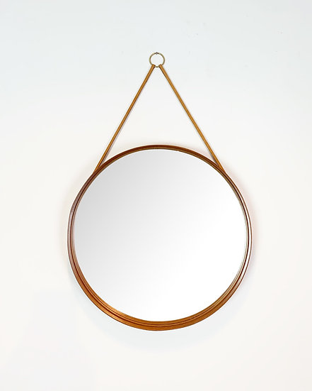 Swedish Mirror Glas Mäster Teak 1960s
