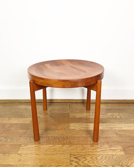 Solid Teak Side Table Dux Sweden 1960s