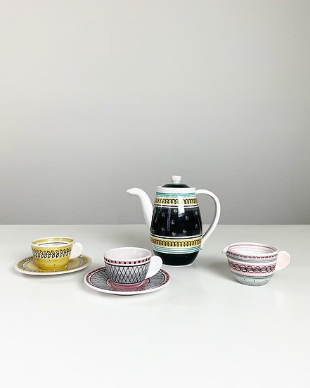 Fritz Haussmann Ceramic Coffee Set 1950s