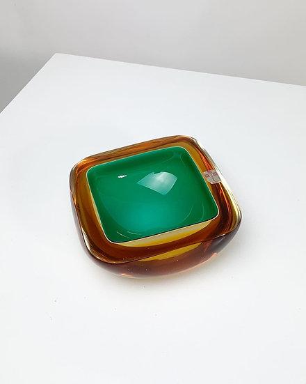 Seguso Dalla Venezia Murano Bowl Sommerso Glass 1960s