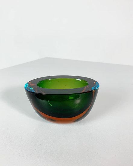 Flavio Poli Glass Bowl Seguso Vetri d'Arte Murano 1960s