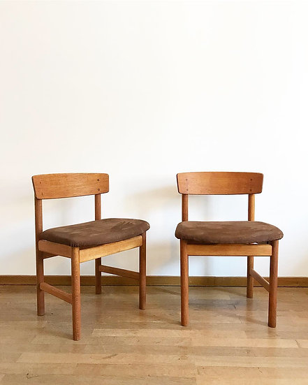 Set of six Børge Mogensen Chairs 3236 Fredericia 1950s