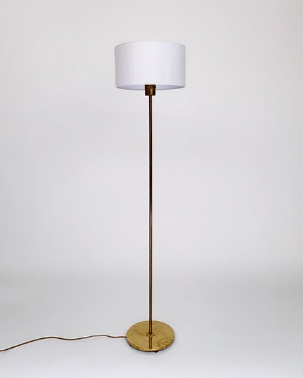 Swedish Brass Floor Lamp Bergboms 1950s