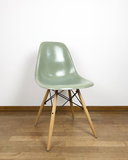 Early Charles & Ray Eames Side Chair Seafoam Herman Miller 50s