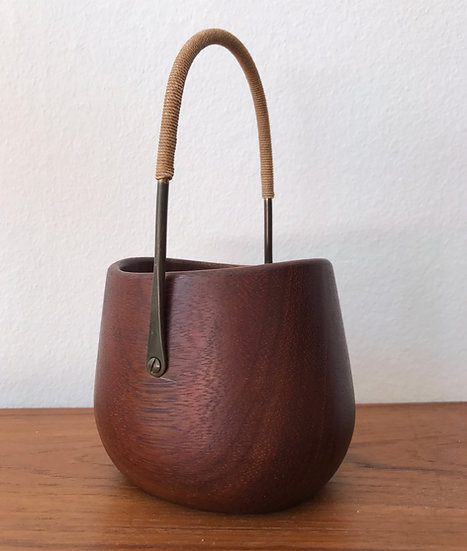 Carl Auböck Sugar Bowl Teak & Brass 50s