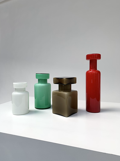 Luciano Vistosi Murano Glass Bottles 1960s