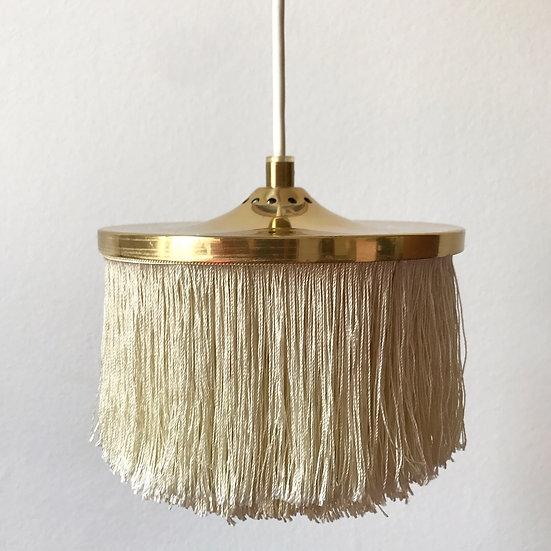 Hans-Agne Jakobsson Lamp Brass & Silk Fringes 60s