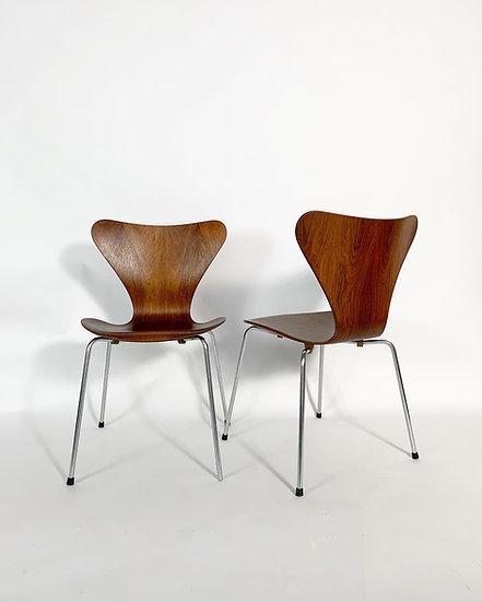 Arne Jacobsen Rosewood Chair Series 7 Fritz Hansen 1960s
