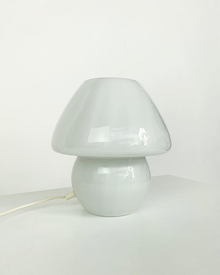 Mushroom Glass Table Lamp 1970s