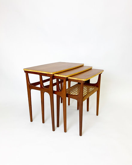 Erling Torvits Nesting Tables Teak Heltborg 1960s
