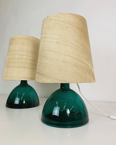 Pair of Per Lütken Table Lamps or Vases Holmegaard 1961