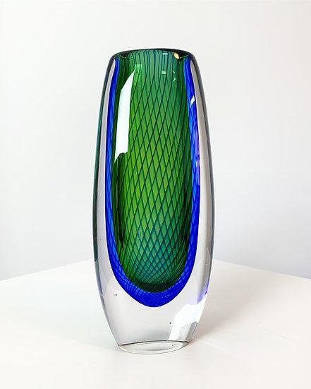 Vicke Lindstrand Glass Vase Kosta Sweden 1950s