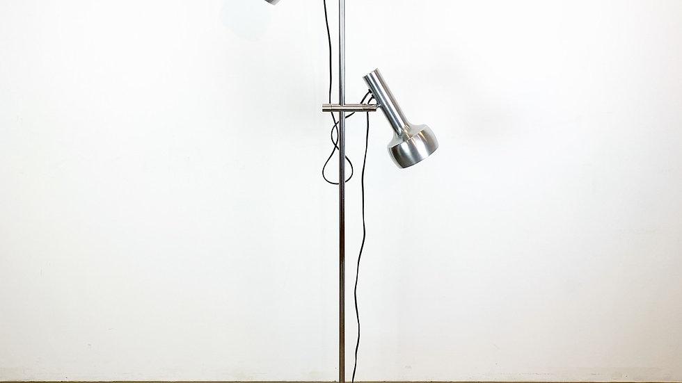 Swisslamps International Floor Lamp Brushed Aluminum 1960s