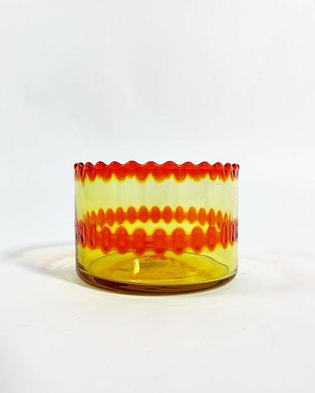 Severin Brørby Pasvik Glass Bowl Hadeland 1970s