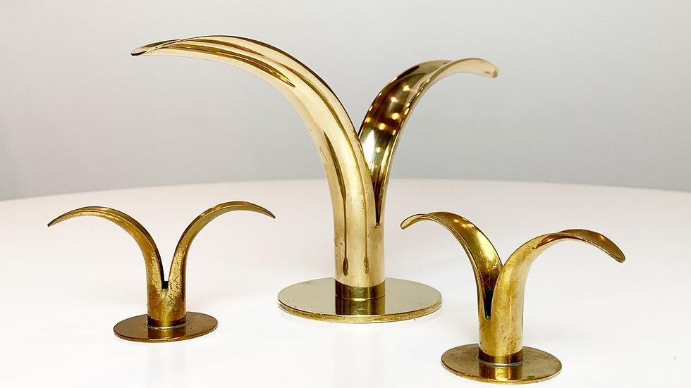 Set of Three Liljan candlesticks by Ivar Ålenius-Björk