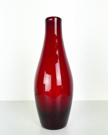 Monica Bratt Vase Reijmyre Sweden Red Glass 1954