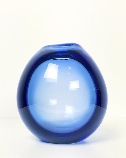 Per Lütken Drop Vase Holmegaard Blue Glass 1955