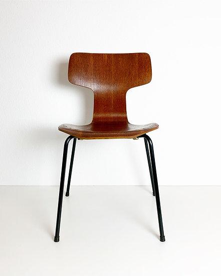 Arne Jacobsen Hammer Chair Fritz Hansen Teak 1967