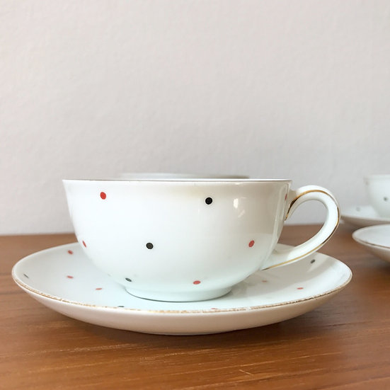 Set of 4 Hermann Gretsch Tea Cups Arzberg 1930s