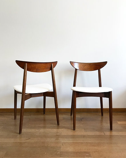 Set of Four Harry Østergaard Rosewood Dining Chairs 1960s