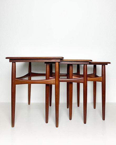 Set of Three Danish Nesting Tables 1960s