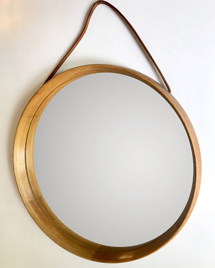 Uno & Östen Kristiansson Mirror Oak & Leather 50s