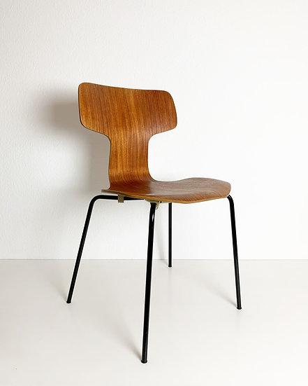 Arne Jacobsen Hammer Chair Fritz Hansen Teak  1970