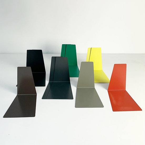 Colorful Bookends Metal Soennecken Germany 1960s
