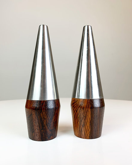 Pair of Lundtofte Salt & Pepper Shakers Rosewood 60s