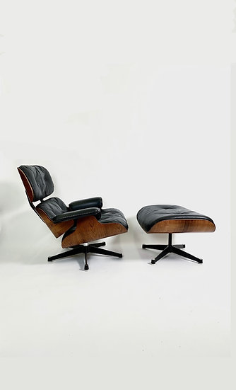 Early Eames Lounge Chair & Ottoman Herman Miller 1960-64