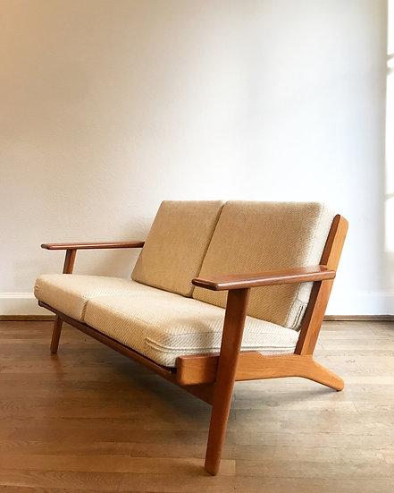 Hans Wegner Two-Seater Sofa GE 290 Teak 60s