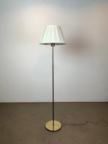 Bergboms Floor Lamp Brass & Fabric Shade 1950s