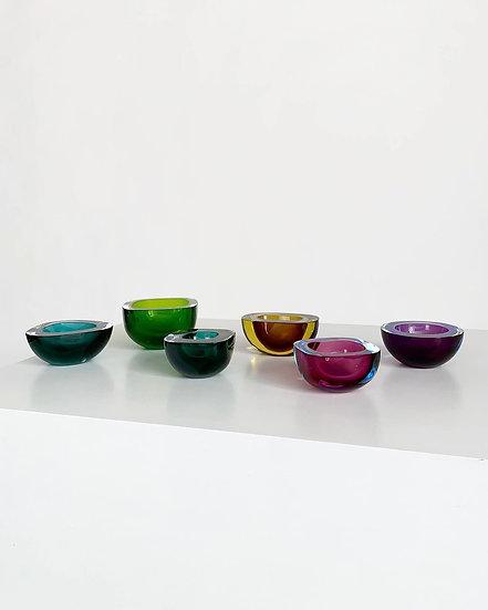 Flavio Poli Murano Bowls Seguso Vetri d'Arte 1950s