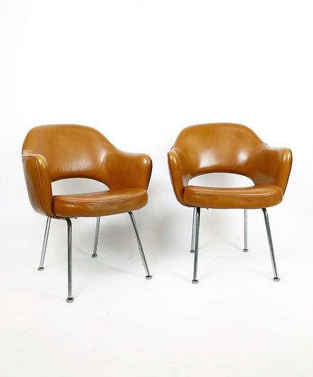 Two Eero Saarinen Executive Armchairs Knoll International 1971