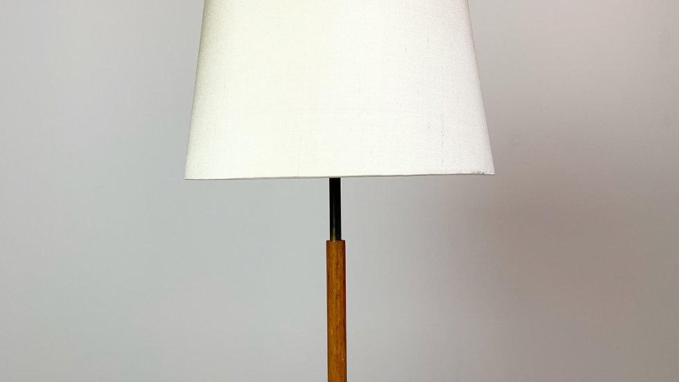 J.T. Kalmar attributed Table Lamp Brass & Silk 1950s