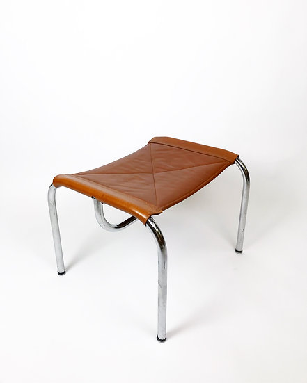 Hans Eichenberger Stool Chrome & Leather 70s