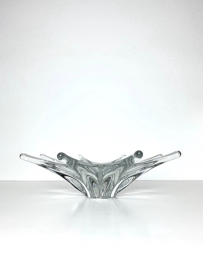 Starfish Crystal Glass Bowl Baccarat France 1960s