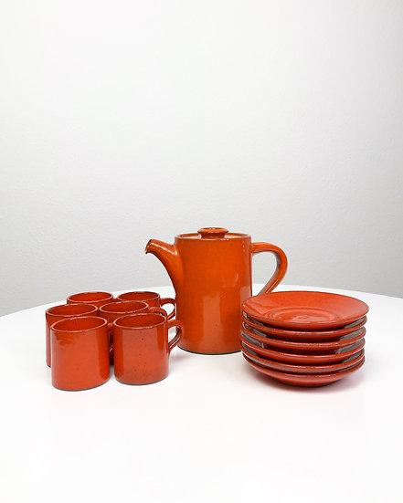 Edouard Chapallaz Coffee Service Stoneware 60s
