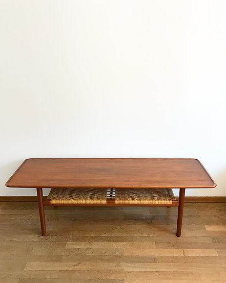 Hans Wegner Coffee Table AT-10 Teak & Cane 50s
