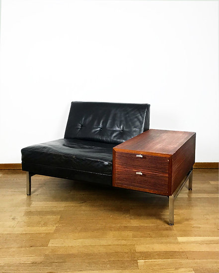 George Nelson Modular Lounge Chair & Rosewood Chest Contura 1950s